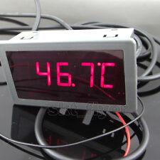 2m F/C Digital LED 12V dc Car Temperature Meter Thermometer DS18B20 Sensor Temp