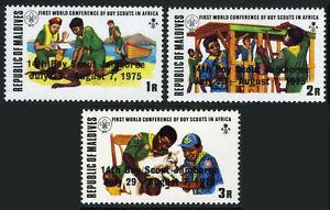 Maldives 571-573, Mi 586-588, MNH 14th Monde Garçon Scouts Jamboree, 1975