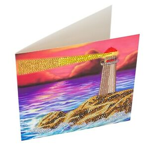 Craft Buddy Crystal Art DIY Greeting Card or picture Kit LIGHTHOUSE