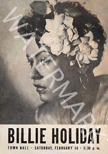 Billie Holiday - New York City Handbill - 1946 Vintage Concert Poster