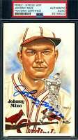 Johnny Mize PSA DNA Coa Autograph Hand Signed Perez Steele Postcard