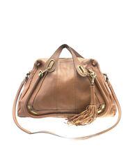 Chloe Large Paraty Brown Leather 2-Way Satchel Bag
