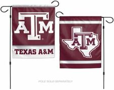 12x18 Texas A&M Aggies 2 Sided Double Sided Garden Flag Wall Banner