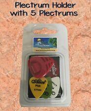 1 x Universal Guitar Pick/Plectrum Holder with 5 plectrums Various Colours