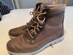 Men's Brown Timberland Sensor Flex Nubuck Suede Boots Size Uk 11