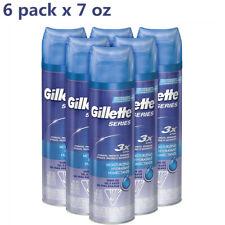 6pk Gillette Shaving Gel Shave Gel For Men TGS Series Moisturizing 3x Action 7oz