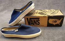 Vintage Vans Usa Womens 10 Mule Slip On Blue Denim Lug Sole 90s Nib retro skater