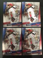 2019 Topps Finest Baseball lot of 4 Card #17 Maikel Franco with 1 Refractor Card