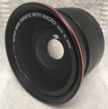 Platinum 0.36X Super Wide Angle Fisheye Macro Camera Lens Screw-In 58mm Japan