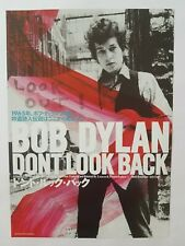 "BOB DYLAN DON'T LOOK BACK JAPANESE MOVIE FLYER CHIRASHI JAPAN 7"" X 10"""