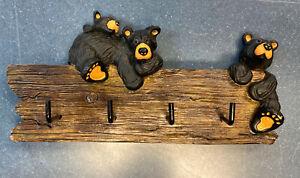 Big Sky Carvers Bearfoots Bear Key Holder Figurine Artist Jeff Fleming Montana