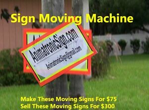 Sign Waving Robot Machine Spinner Velocity (Building Diagrams and Instructions)