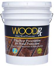 WoodRx 5 gal. Clear Water Repellent Wood Sealer Exterior Stain Waterproofing