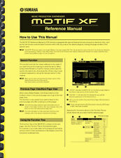 Yamaha MOTIF XF Synthesizer REFERENCE MANUAL