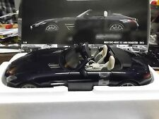 MERCEDES BENZ SLS AMG Roadster 2011  blue blau Supersportwagen Minichamps 1:18