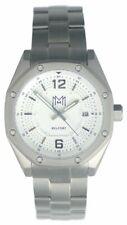 Modern Made Man Belfort Titanium Silver White Wristwatch - $895 MSRP Brand New