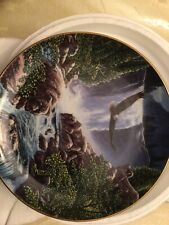 Danbury Mint Sanctuary Falls By John Straalen Spirits Of Yhe Wild