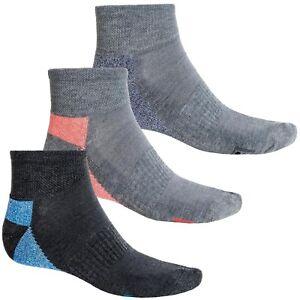 FILA Men's Quarter Socks 3 Pack Large Dark Grey Blue Orange Neon Athletic New