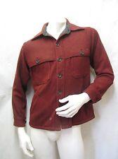 VTG WOOLRICH WOOL MACKINAW HEAVY JACKET CRUISER COAT RED TWEED SHIRT HUNTING M
