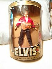 1993 Hasbro Elvis Presley Jailhouse Rock 45 RPM Doll w/Guitar and Stand B New