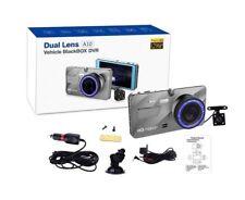 "4"" lente dual cámara HD 1080P coche DVR Video 170 ° Cámara en Tablero Delantero Trasero récord"