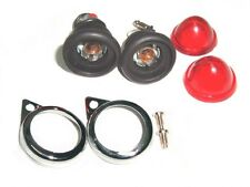 Sales Set of Red Pilot Lamps Assembly 6v-Bulbs For Royal Enfield Bullets