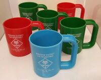 Boy Scouts Robidoux District Roundtable Cub Council Vtg 6 Plastic Cups BSA Wolf