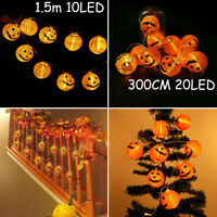 Halloween LED String Lights Fairy Pumpkin Lantern Party Home Hanging Prop Decor