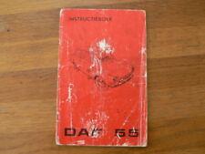 DAF 55 INSTRUCTIEBOEK INSTRUCTION BOOK 1971 ? CAR AUTO