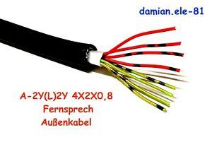 Fernmeldekabel A-2Y(L)2Y 4x2x0,8 mm Außenkabel Telefonkabel Erdkabel