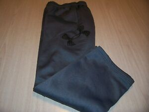 UNDER ARMOUR STORM LOOSE FIT GRAY W/BLACK SWEATPANTS BOYS MEDIUM 10-12 GOOD COND