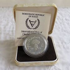 ETHIOPIA 1981  YEAR OF THE DISABLED SILVER PROOF 10 POUNDS - boxed/coa