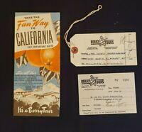 Take The Fun Way to California; Santa Fe & Southern Pacific & Berry Tours, 1951