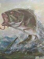 Ralph J McDonald (R. J.) Vintage  Limited Edition Big Mouth  Bass Fish (2)