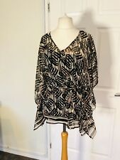 M&S Size10 Bat 🦇 Wing Belted Polyester   Top Women's