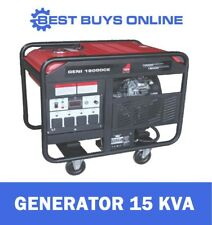 Power Generator Electric Start 15kVA Max 10kW Rated Petrol Engine V Twin