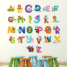 Alphabet Wall Sticker Learn letters kids room decal children art graphics mural