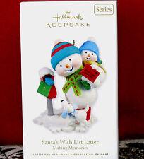 Hallmark 2010 SANTA'S WISH LIST LETTER Making Memories #3 Series New Ornament