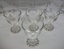 "8 VINTAGE ANCHOR HOCKING BERWICK / BOOPIE BUBBLE 3 7/8"" COCKTAIL 3.5 oz GLASSES"