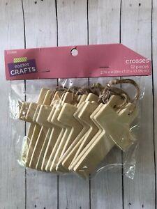 "1 pack of 12 wooden crosses Teacher Supply Sunday school craft Easter 2.76"" x 4"""