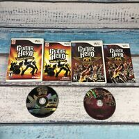 Lot of 2 Wii Game: Guitar Hero World Tour & Aerosmith-Complete W/ Manuals