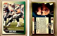 Andy Heck Signed 1991 Score #266 Card Seattle Seahawks Auto Autograph