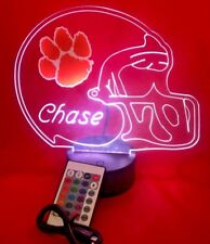 Clemson Tigers NCAA College Football Light Up Lamp LED Remote Personalized Free