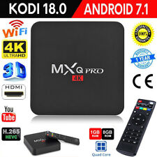MXQ PRO 3D WiFi TV Box Android 7.1 Quad Core KODI 18.0 1G+8G 4K*2K Media Player