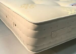 QUALITY FIRM POCKET SPRUNG MATTRESS TRADITIONAL HANDTUFTED FINISH 6 HANDLES 11IN