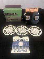 VINTAGE Sawyers VIEWMASTER STEREOSCOPE With Box & x3 Disney Reels