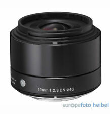 Sigma 19mm for 2.8 Dn Lens Mft Black Micro Four Thirds Mft DSLR