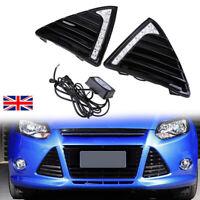 Pair Daytime Running Light LED Fog Head Lamp DRL For Ford Focus 2011-2014  AH01