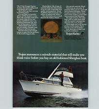 1970 PAPER AD Trojan Yacht Motor Boat 31' Sea Voyager Express Cruiser 225 HP