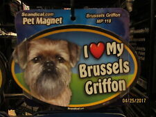 I Love My Brussels Griffon 6 inch oval magnet for car or anything metal New